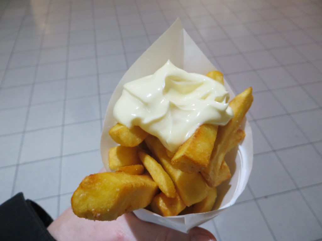 Frites - French fries with Mayonnaise
