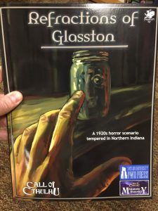 My copy of Refractions of Glasston
