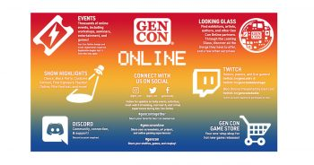 2020 - My interests at Gen Con Online 2020
