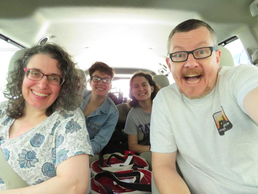 Gen Con 2019 - Picture of Family in Van