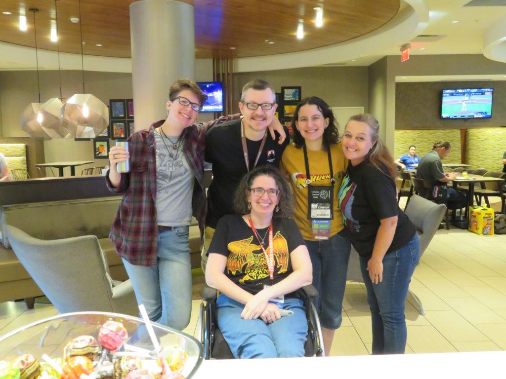 Gen Con 2019 - Knight family at hotel