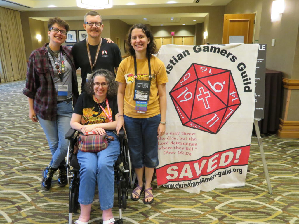Gen Con 2019 - Knight family at Christian Worship Service