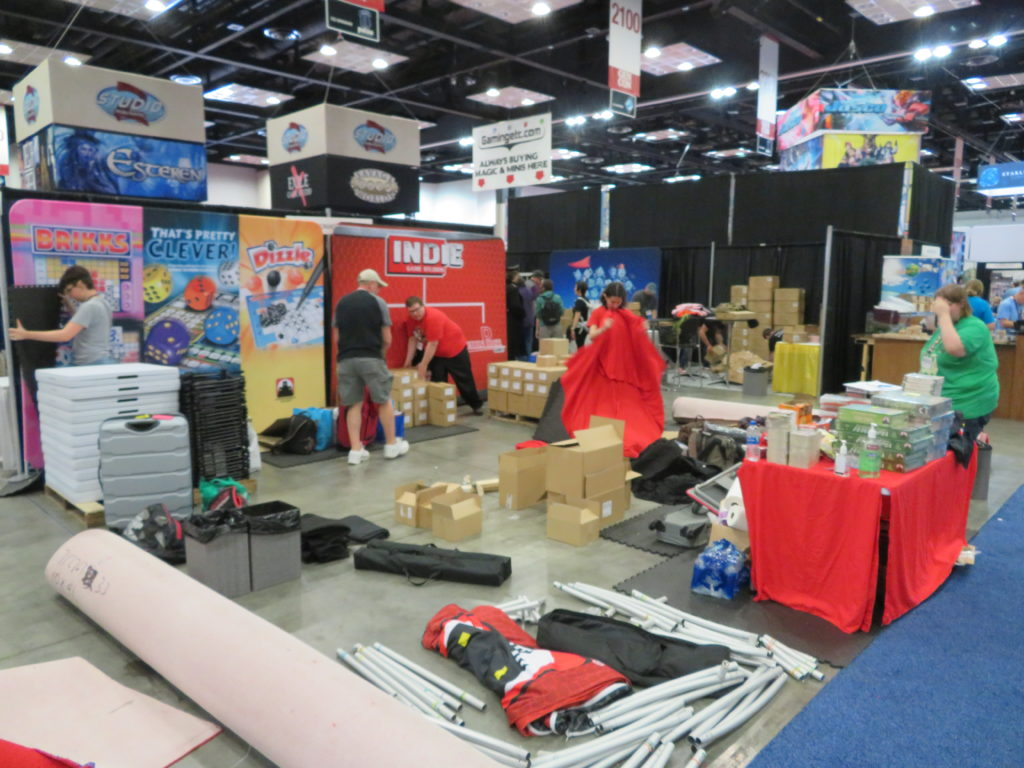 Gen Con 2019 - Tearing down Stronghold Games booth