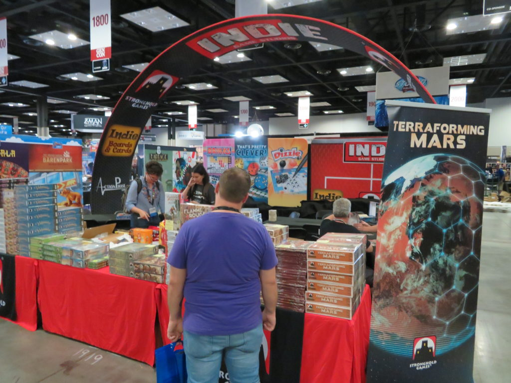 Gen Con 2019 - Stronghold Games booth all set up.