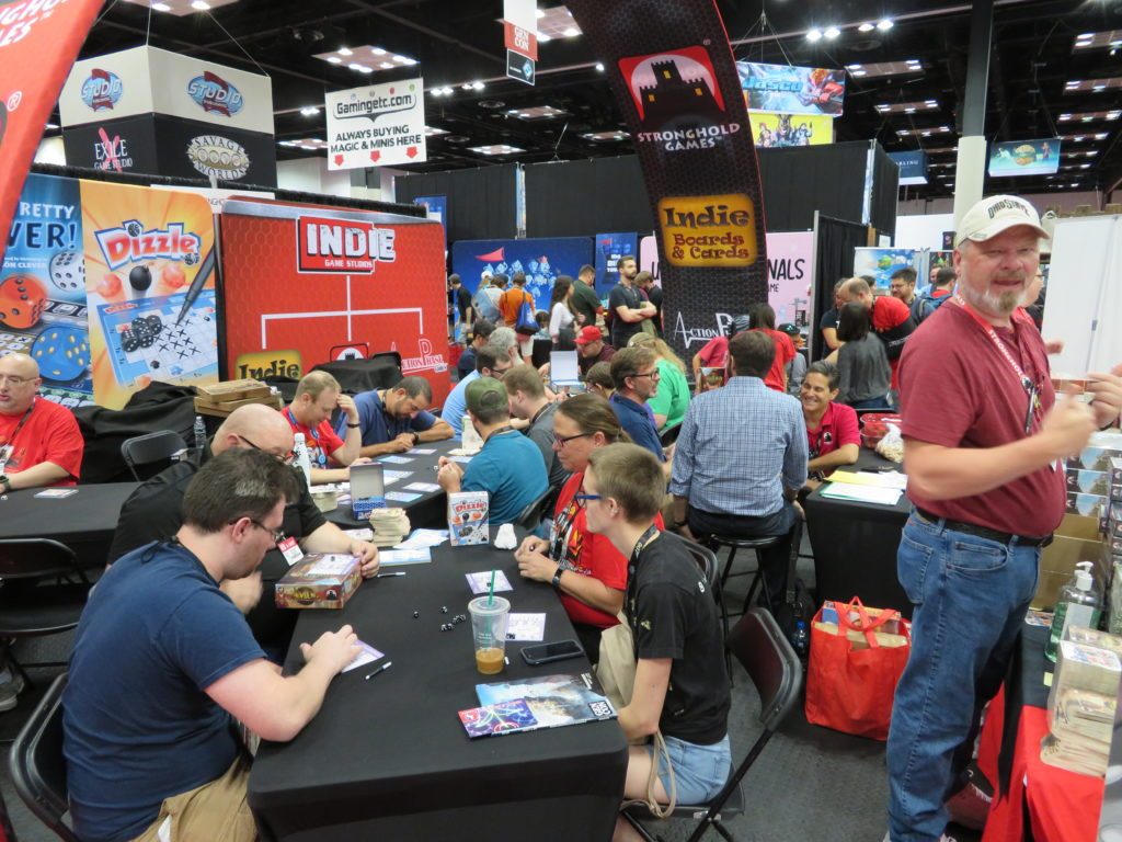 Gen Con 2019 - Stronghold Games booth active during con