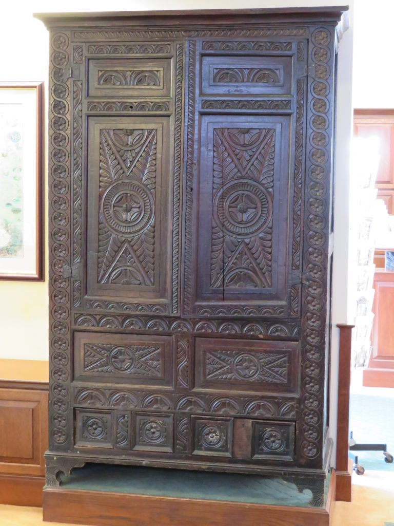 The wardrobe that inspired part of C.S. Lewis' book The Lion, The Witch, and the Wardrobe.