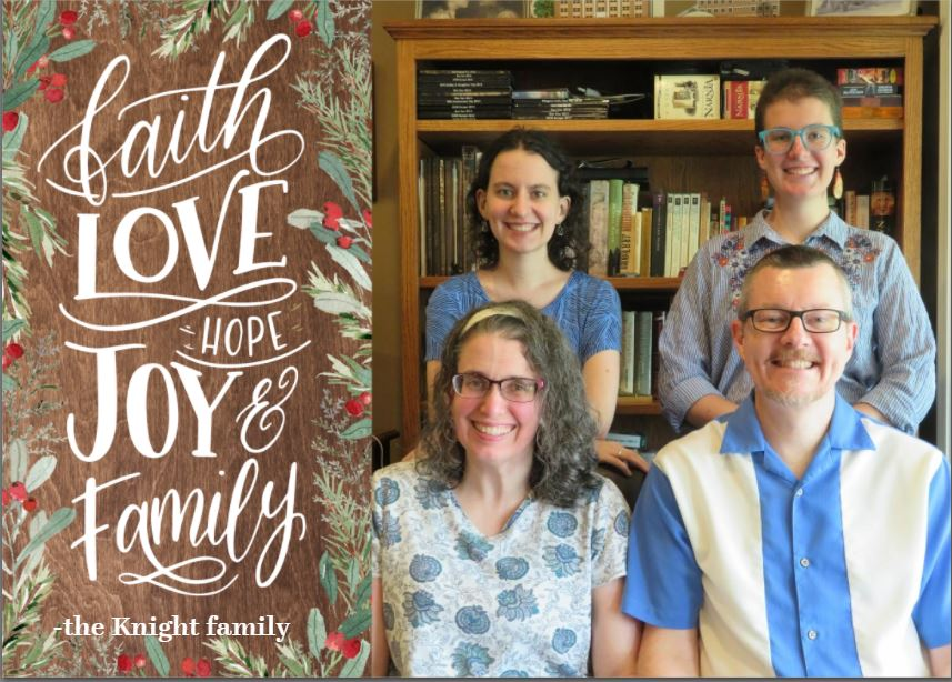 Knight Family 2020 Christmas Card front