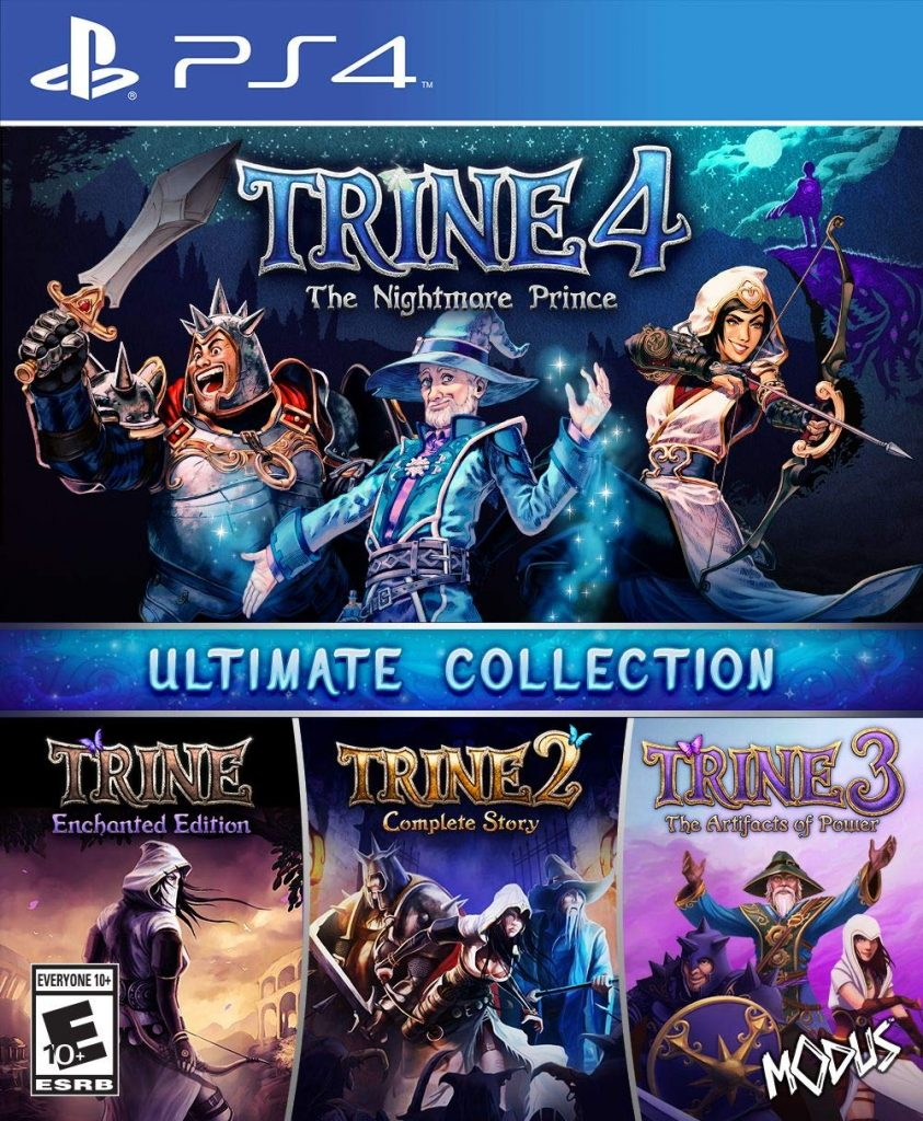 Trine Ultimate Collection PS4 game cover