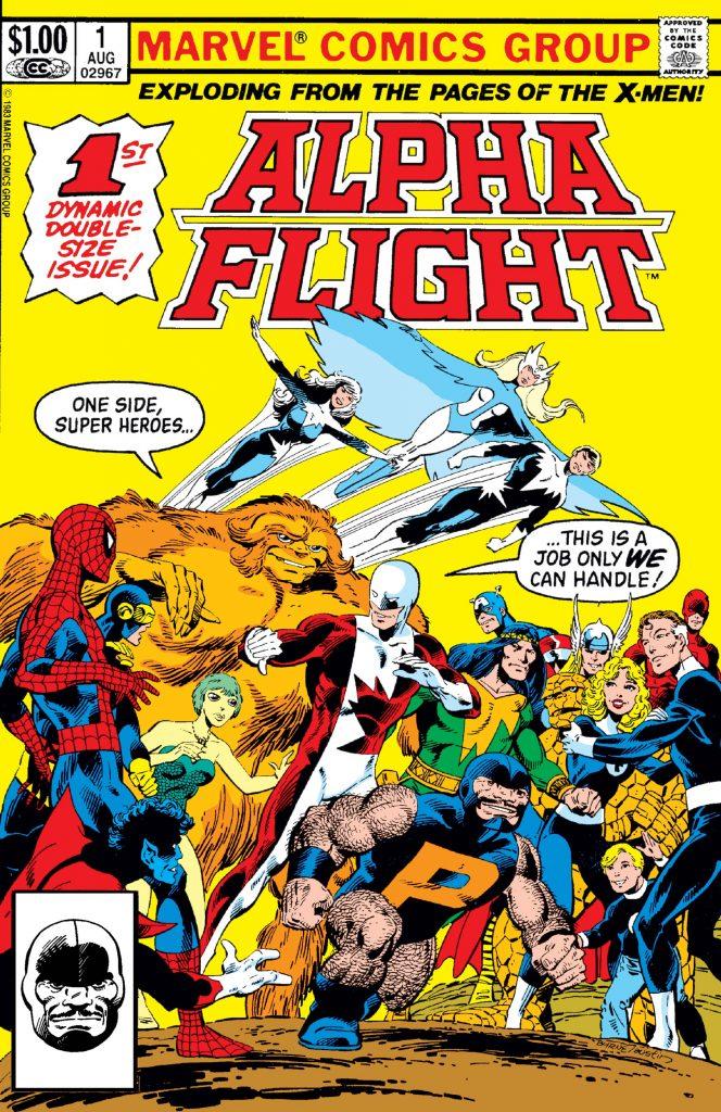 Alpha Flight comic cover