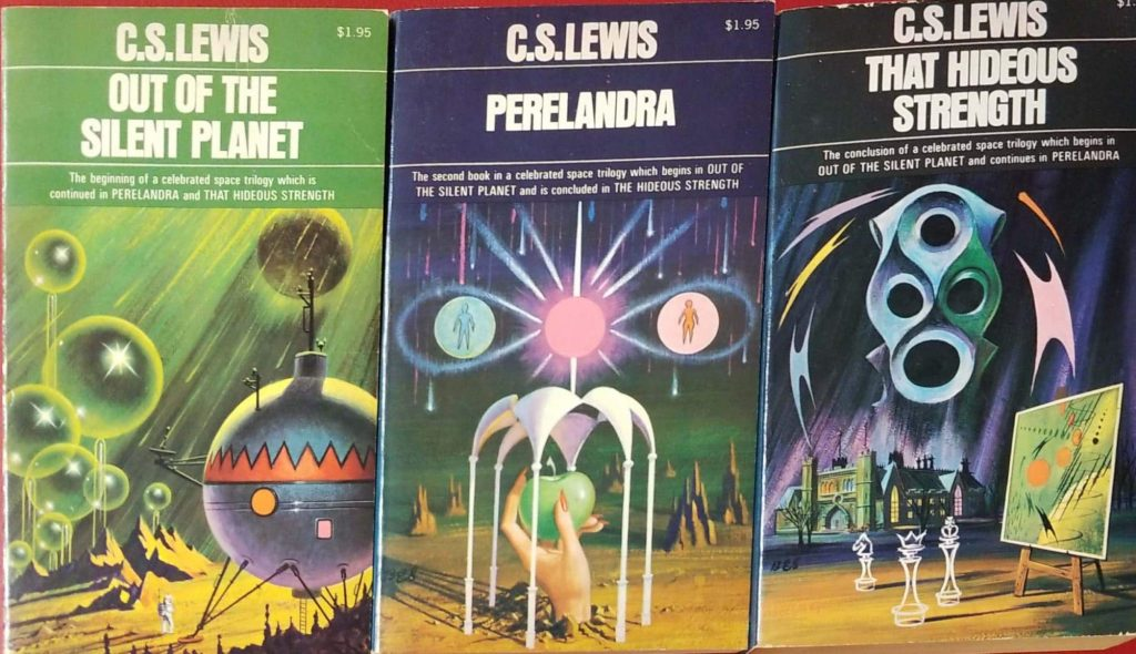 Space Trilogy by C.S. Lewis covers